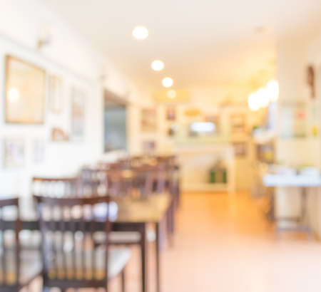 image of Coffee shop blur background with bokeh
