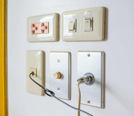 wall plug: image of a lot of plug on wall .