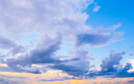 Dark colorful stormy cloudy sky photo background . photo