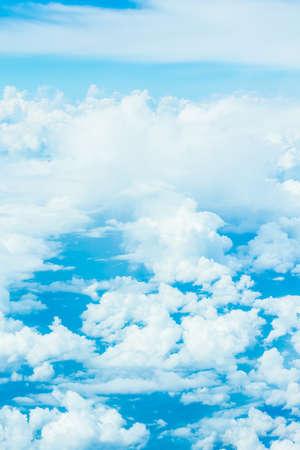 nimbi: white cloud and blue sky background image. Stock Photo