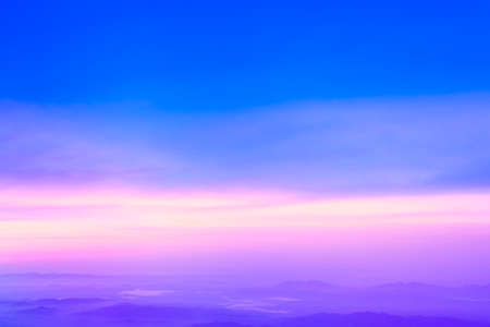 Colorful sky after the sunset. Natural Sky Background . Standard-Bild