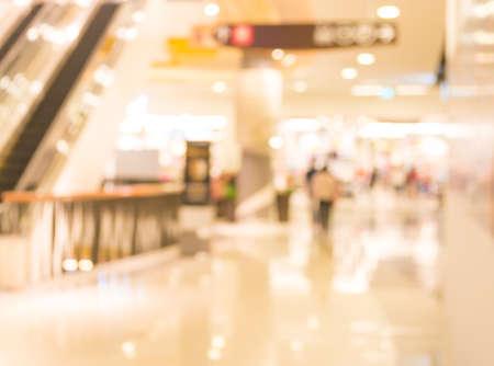 beeld van roltrappen in de moderne winkelcentrum. Stockfoto