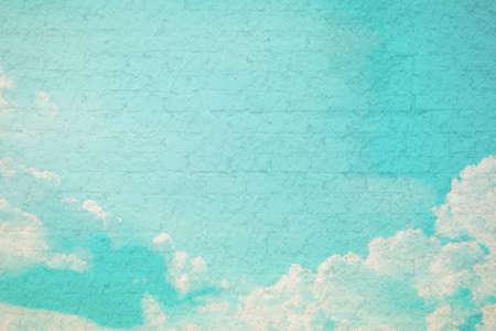 image de cru fond de ciel de style avec espace pour le texte.