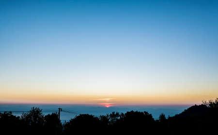 image of morning sky at Chiang Mai,Doi Angkhang,Thailand photo