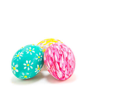 image of Easter eggs isolate on white background . photo