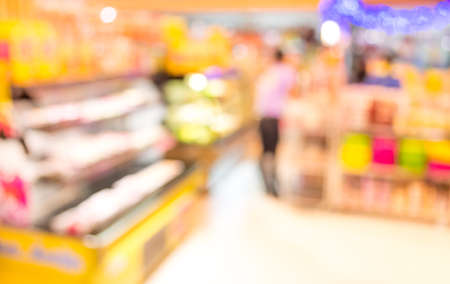 image of food store blur  with bokeh for background usage.