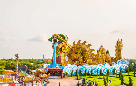 image of Huge dragon statue for background usage. photo