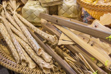 thailand bamboo: image of thailand bamboo toys handicraft . Stock Photo
