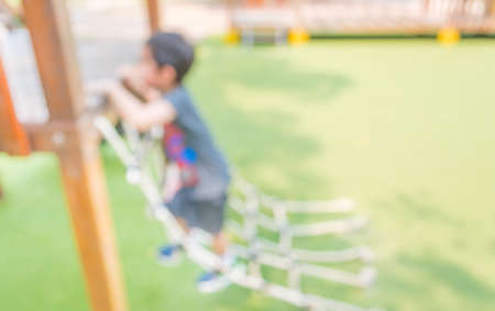 playhouse: Defocused and blur image of childrens playground at public park for usage.
