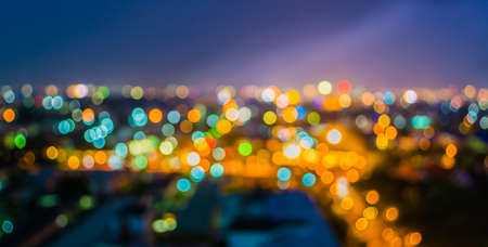 lighhts: blur lighhts from Chiang Mai, Thailand for background usage . Stock Photo