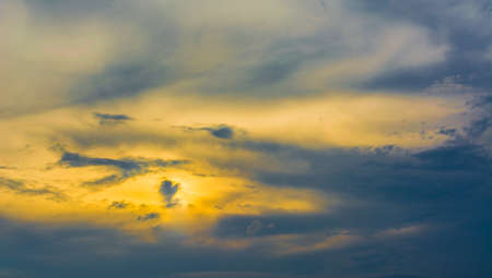 ra: image of The Eye of Ra on sunset sky for background usage.