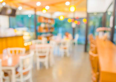 blurred image of Coffee shop blur background with bokeh. photo