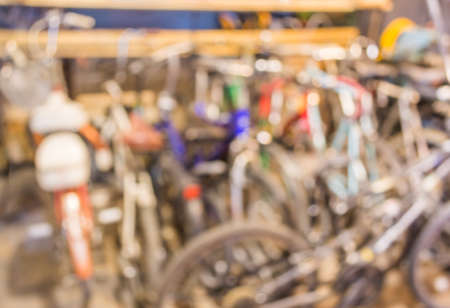 lots: blurred image of lots of parked bikes. Useful as background.