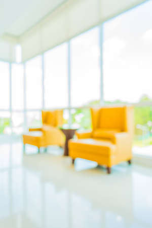 blur image of hospital office room with table and chairs for background usage. photo