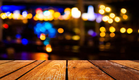 night spot: imaeg of  blurred bokeh background with warm orange lights (blurred) Stock Photo