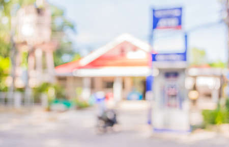 automatic teller: blur image of automatic teller machine on day time .