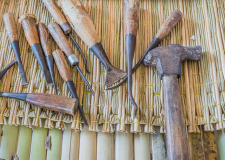 gouge: image of  group of carpenter tools .