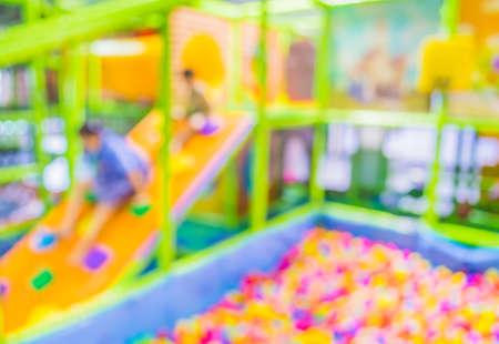 blur colorful plastic balls on childrens playground .