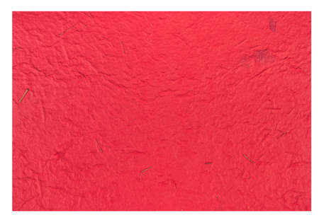 reddening: Red Craft eco textured paper sheet. Handmade paper texture(Sa Paper) Isolated on white background. Stock Photo