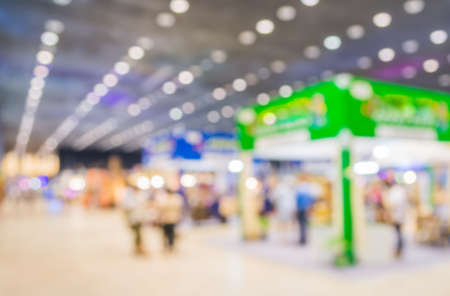 blurred image of shopping mall and people for background usage . Stock Photo