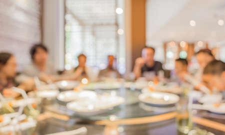 Chinees restaurant wazige achtergrond afbeelding met bokeh.