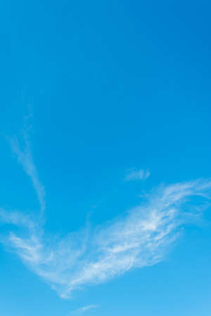 white clouds: image of blue clear sky white cloud for background usage . Stock Photo
