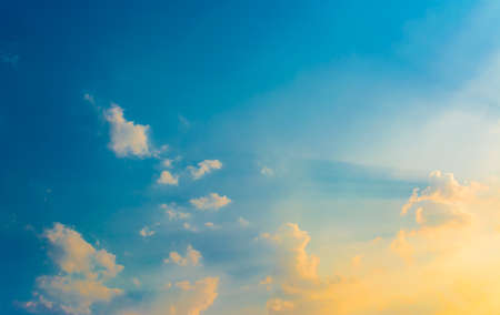 image of sunset sky for background usage. Stock Photo