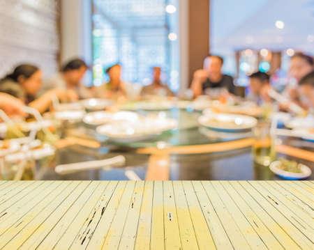 中国のレストランは、ピンぼけ画像で背景をぼかし。