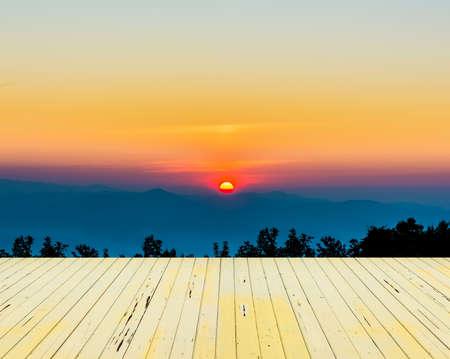 morning sky: image of morning sky at Chiang Mai,Doi Angkhang,Thailand Archivio Fotografico