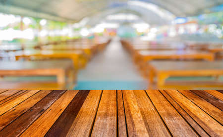 school cafeteria: image of blur cafetaria with open space for background usage .