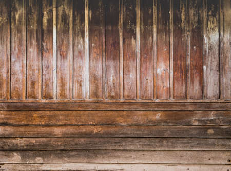 duckboards: image of old wooden wall background texture. Stock Photo