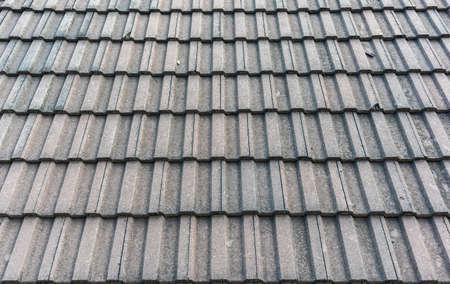 usage: Black tiled roof for background usage