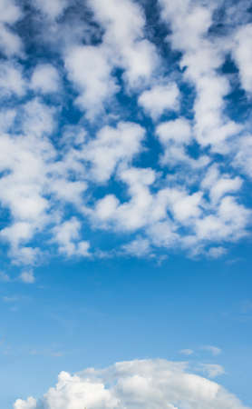 image of blue sky on day time for background usage .(vertical) Stock Photo