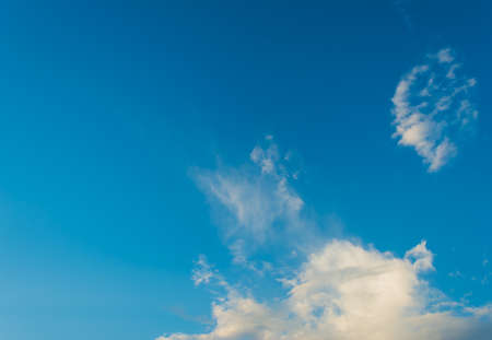 nebulosity: image of blue sky with white cloud for background usage.
