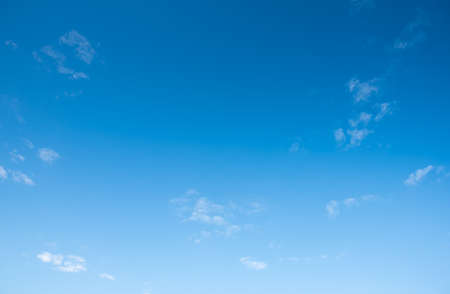 Image of blue sky and white cloud in the daytime