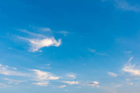 Image of blue sky and white cloud on day time for background usage.