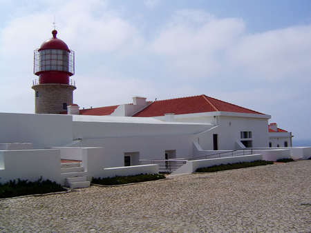 Lighthouse at the end of the world (Cape St. Vincent) Stock Photo - 2563261