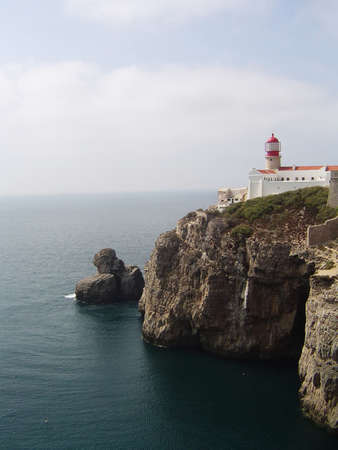 Lighthouse at the end of the world (Cape St. Vincent) Stock Photo - 2563977