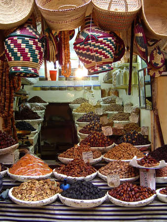 morocco: Good from a market in Marakech, Morocco                                Stock Photo