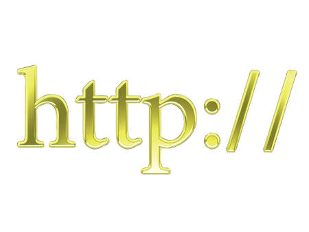 Gold and shiny text spelling http:// Stock Photo - 2610924