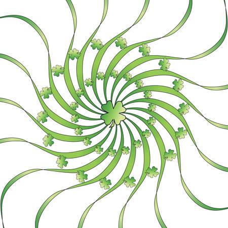 Circular green clover illustration