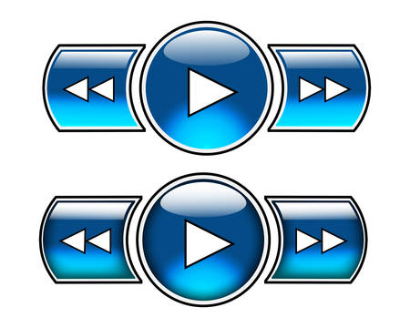 fast forward: Nice blue glossy buttons including play, fast forward and fast backward. Top three can be used as normal buttons and lower three as roll over buttons. Will add stop, pause and open soon.