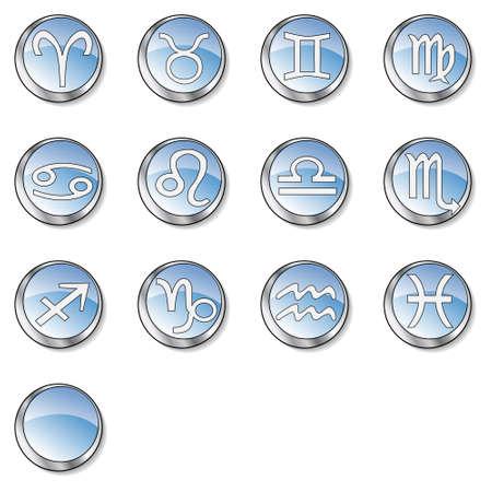 Web zodiac icon set   Stock Photo - 2783742