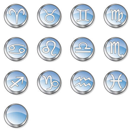 Web zodiac icon set Stock Photo - 2783742