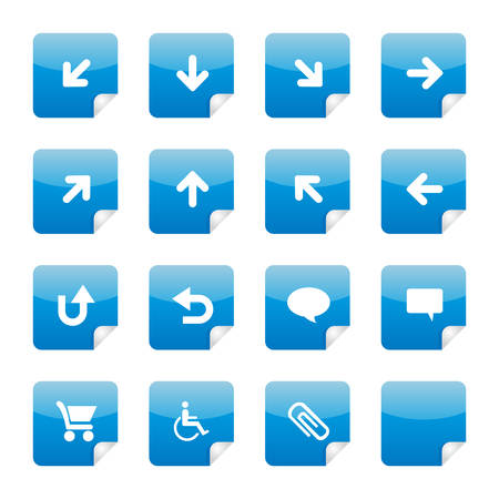 16 nice blue glossy stickers with foldup part 3. See my portfolio for more. Vector