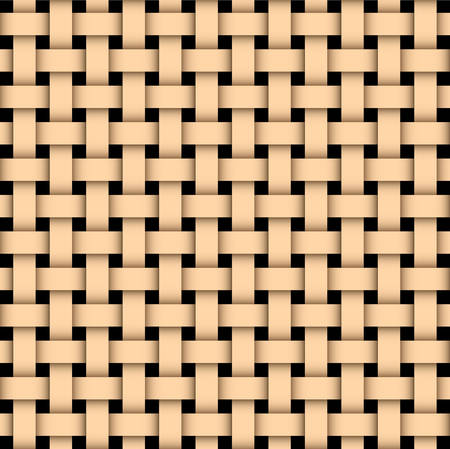 wooden vector mesh: Illustration of a wooden basked weave texture. Illustration