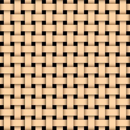 Illustration von einem hölzernen sonnte weben Textur.  Vektorgrafik