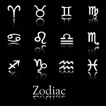 Icon collection of zodiac symbols. Vector