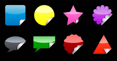 Nice colorful stickers with foldup. See my portfolio for more. Vector