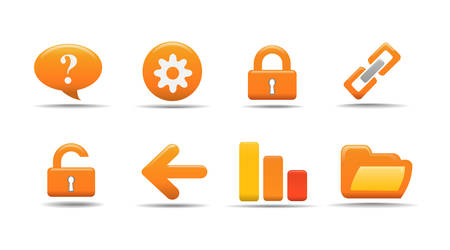 Web icons | Pumpkin series Vector